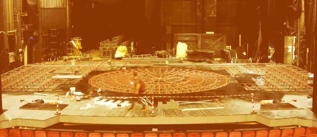 constructie scena mobila, scena concert, scena evenimente, teatru