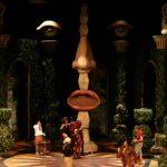 butaforie scena teatru, cap de om din polistiren
