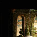 decor cer, doi copaci, decor scena, decor teatru si film