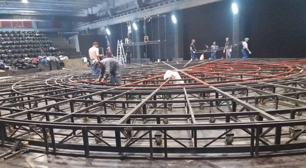 truss - Double rotating stage - Sibiu Theater - in progress
