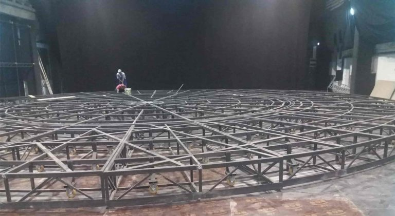 truss - Double rotating scene - Sibiu Theater - completed project