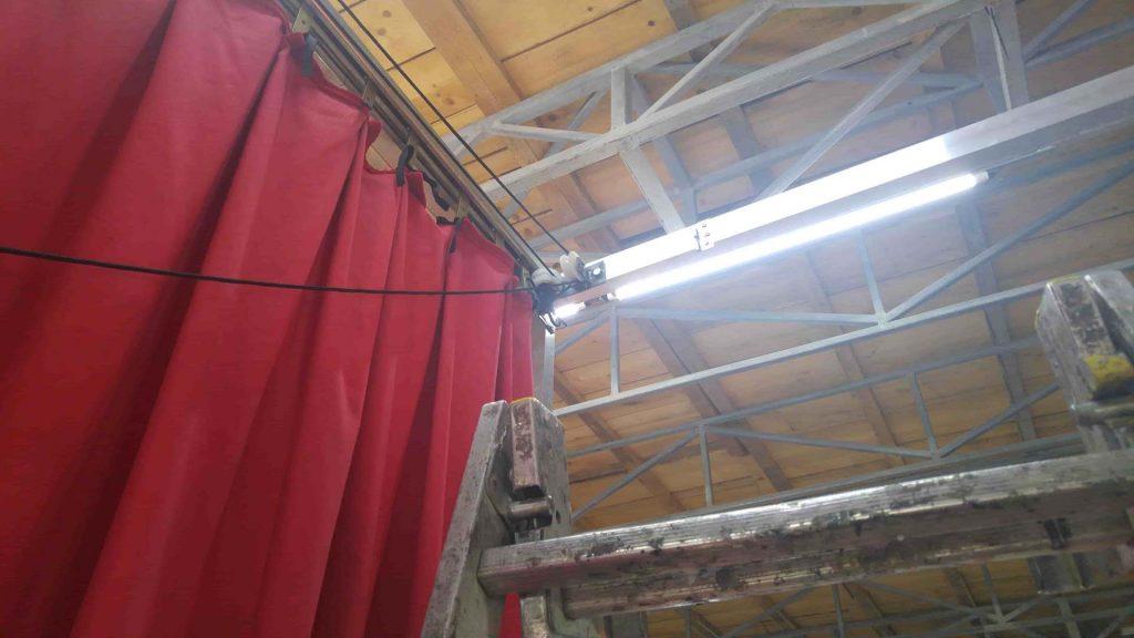 cortina greceasca - rosie - asamblare 2