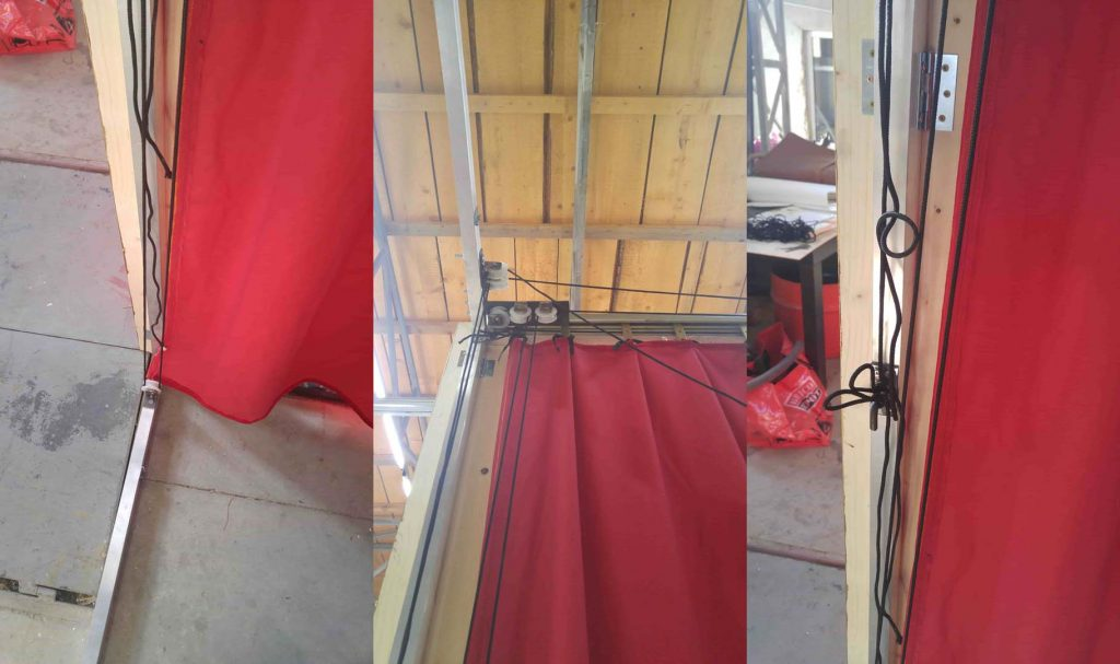 cortina greceasca - rosie - asamblare 6