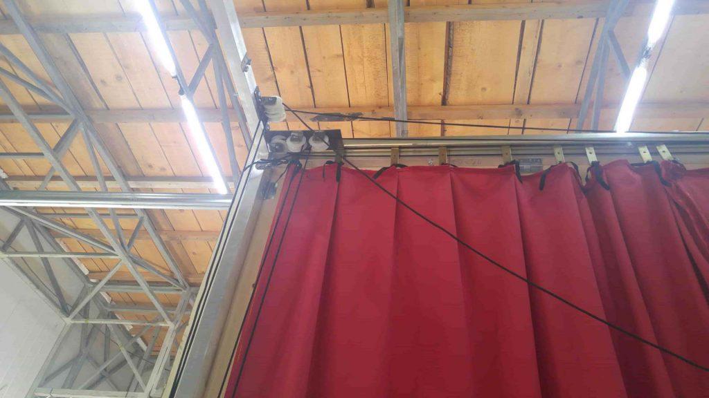 cortina greceasca - rosie - asamblare