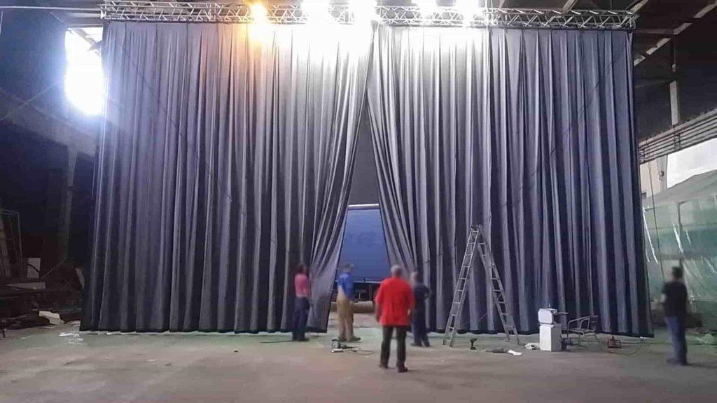 Greek curtain - gray