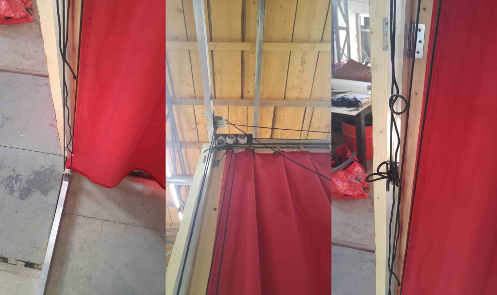 Red Greek curtain - assembly 6