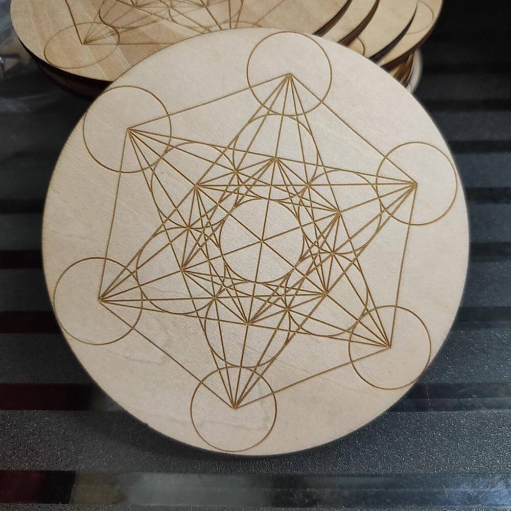 CNC engraving circles